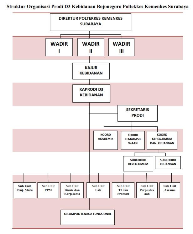Struktur Organisasi Prodi D3 Kebidanan Bojonegoro Poltekkes Kemenkes Surabaya